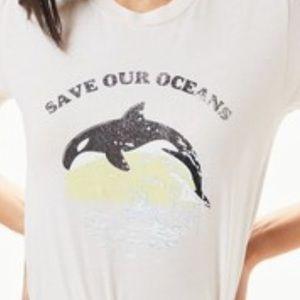 Pacsun NWT save our oceans orca shirt